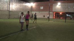 entrenamiento de fútbol femenino