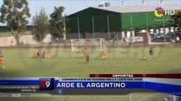 Arde el argentino.