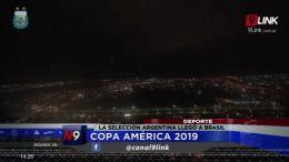 LA SELECCIÓN ARGENTINA LLEGÓ A BRASIL