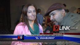 """EL VAGABUNDO CHARLÃ"""" CON LOS ACTORES DE LA OBRA EJERCICIOS SOBRE JULIO CESAR"""