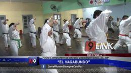 """Resistencia: """"El Vagabundo� visitó el entrenamiento de karatecas chaqueños que viajan a Irlanda"""