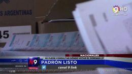 SE PUEDE CONSULTAR DÓNDE VOTAR EL DOMINGO 27 | NACIONAL | 16.10