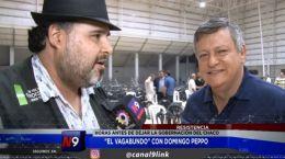 Con Domingo Peppo a horas de dejar la gobernación